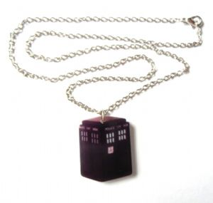 Doctor Who Tardis pendant, Blue Police Box, Time Lord, prop replica